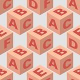 Nahtloses Muster des isometrischen Würfelblockes Lizenzfreies Stockfoto