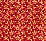 Nahtloses Muster des japanischen Kimonos der Weinlese Stockbilder