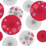 Nahtloses Muster des japanischen Regenschirmes Lizenzfreies Stockfoto