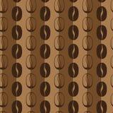 Nahtloses Muster des Kaffees Stockbild