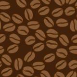 Nahtloses Muster des Kaffees Dunkler Hintergrund Lizenzfreies Stockfoto