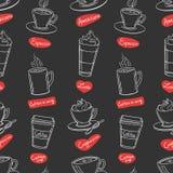 Nahtloses Muster des Kaffeestubedesigns stock abbildung
