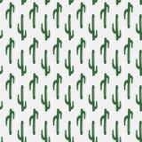 Nahtloses Muster des Kaktus Stockfotografie