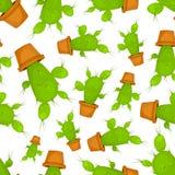 Nahtloses Muster des Kaktus Lizenzfreies Stockbild