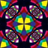 Nahtloses Muster des Kaleidoskops. Stockfoto