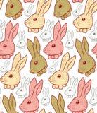 Nahtloses Muster des Kaninchens Lizenzfreie Stockfotos
