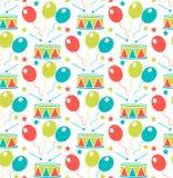 Nahtloses Muster des Karnevals Sich wiederholende Beschaffenheit Purim Feiertag, Maskerade, Festival, Geburtstagsfeier Endloser H vektor abbildung