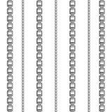 Nahtloses Muster des Kettenlink-Stärkeverbindungs-Vektors des Metalls verband Teile und starkes Zeichen des Eisenausrüstungsschut Lizenzfreie Stockfotografie