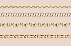 Nahtloses Muster des Kettenlink-Stärkeverbindungs-Vektors des Metalls verband Teile und starkes Zeichen des Eisenausrüstungsschut Stockbild