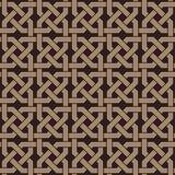 Nahtloses Muster des Knotens von Verzierungen stock abbildung