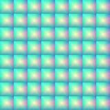 Nahtloses Muster des konvexen Glasmosaiks, volumetrische Kontrolleure, Glasblöcke Stockfotografie