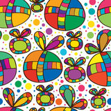 Nahtloses Muster des Kreisband-Geschenks stock abbildung