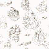 Nahtloses Muster des Kuchens vektor abbildung