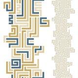 Nahtloses Muster des Labyrinths Lizenzfreies Stockbild
