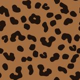 Nahtloses Muster des Leoparden stock abbildung