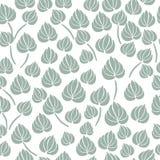 Nahtloses Muster des Lilienblumen-Blattes Lizenzfreies Stockfoto
