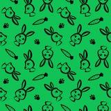 Nahtloses Muster des lustigen Kaninchens in der Bürstenentwurfsart Lizenzfreies Stockbild