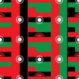 Nahtloses Muster des Malawi-Flaggendesigns Lizenzfreie Stockbilder