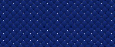 Nahtloses Muster des Marineblaus im Retrostil mit einer Goldkrone Kann für erstklassige königliche Partei verwendet werden lizenzfreie abbildung