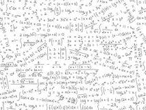 Nahtloses Muster des Matheformel-Vektors vektor abbildung