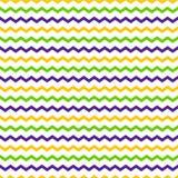 Nahtloses Muster des mehrfarbigen Zickzacks zeichnet auf einem weißen Hintergrund Lizenzfreies Stockbild