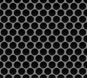 Nahtloses Muster des Metallrasterfeldes Stockfotos
