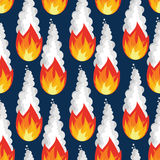 Nahtloses Muster des Meteorregens Feuerasteroidbeschaffenheit Brennender Himmel Lizenzfreie Stockfotos