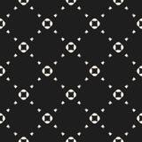 Nahtloses Muster des minimalen allgemeinhinvektors mit kleinen Blumenformen, Quadrate, Dreiecke, Gitter Dunkles Design für Dekor, lizenzfreie abbildung