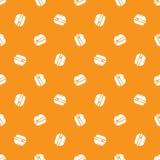 Nahtloses Muster des minimalistic Burgers des Vektors vektor abbildung