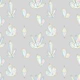 Nahtloses Muster des Modehippies mit Diamanten Bergkristalldesignfliesen stock abbildung