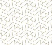 Nahtloses Muster des modernen einfachen geometrischen Vektors mit Goldlinie Beschaffenheit auf weißem Hintergrund Helle abstrakte lizenzfreie abbildung