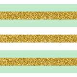 Nahtloses Muster des modischen Goldstreifen-Vektors Stockfoto