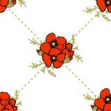 Nahtloses Muster des Mohnblumenblumenhintergrundes Lizenzfreie Stockfotografie