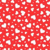 Nahtloses Muster des Mosaiks mit weißen Herzen Lizenzfreie Stockbilder
