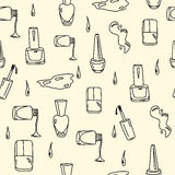 Nahtloses Muster des Nagellacks lizenzfreie abbildung