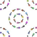 Nahtloses Muster des Nagellacks Vektor Lizenzfreies Stockfoto
