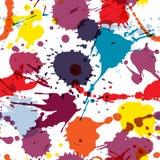 Nahtloses Muster des nahtlosen abstrakten Schmutzvektors Bunte künstlerische Spritzenflecken Stellentinte befleckt Hintergrund Stockbild