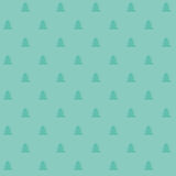 Nahtloses Muster des naiven Weihnachtsvektors mit Bäumen Stockbild