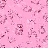 Nahtloses Muster des netten flüchtigen Valentinstags Lizenzfreies Stockfoto