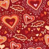 Nahtloses Muster des netten Herzens der Liebe Lizenzfreie Stockfotografie