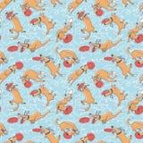 Nahtloses Muster des netten Hundevektors Universalschablone für Grußkarte, Webseite, Hintergrund Stockfoto