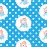 Nahtloses Muster des netten kleinen Babys Stockbild