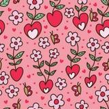 Nahtloses Muster des netten Schmetterlinges der Liebesblume stock abbildung