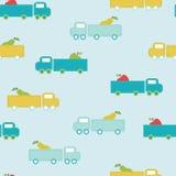 Nahtloses Muster des netten Transportes Lizenzfreie Stockfotos