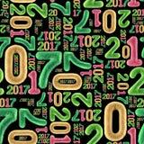 Nahtloses Muster des neuen Jahres Lizenzfreies Stockfoto