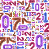 Nahtloses Muster des neuen Jahres Lizenzfreie Stockfotografie