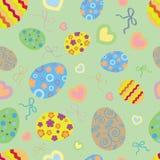 Nahtloses Muster des Ostern-Hintergrundes Lizenzfreies Stockfoto