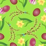 Nahtloses Muster des Ostern-Hintergrundes Lizenzfreie Stockbilder