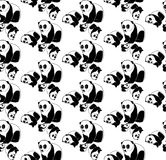 Nahtloses Muster des Pandabären Lizenzfreies Stockfoto