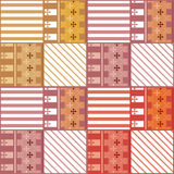 Nahtloses Muster des Patchworks mit geometrische Elemente Retro- backgro Lizenzfreies Stockfoto